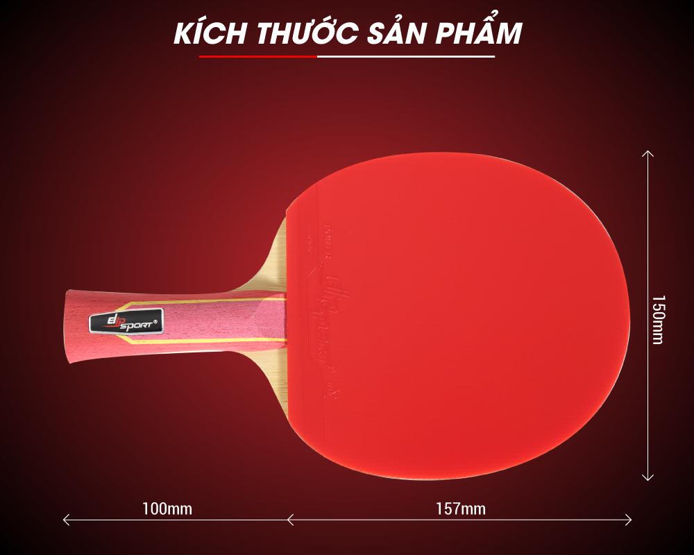kích thước vợt bóng bàn elip strong power
