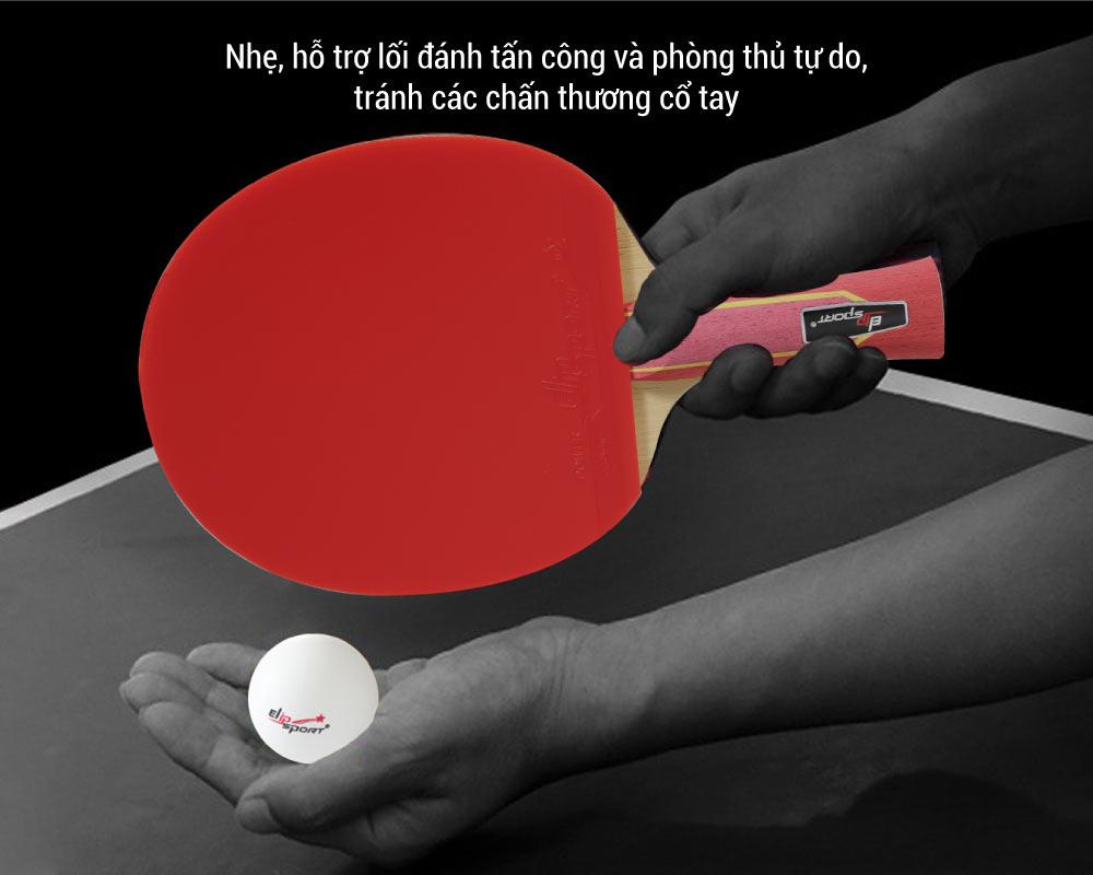 tính năng vợt bóng bàn elip strong power