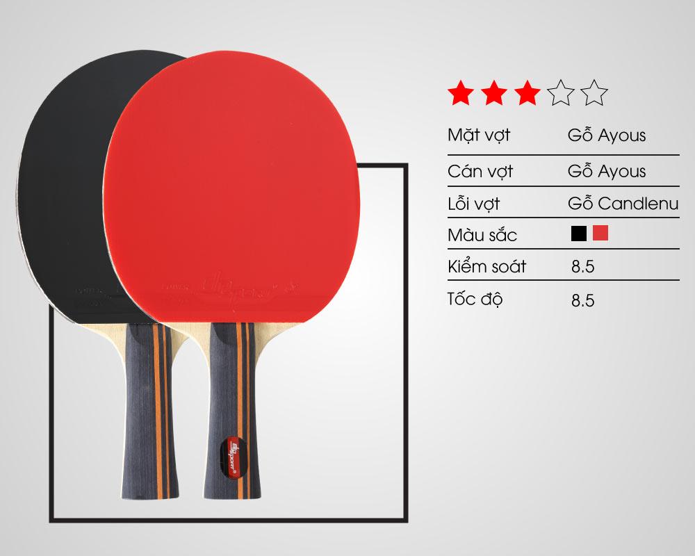 thiết kế vợt bóng bàn elip tempo 3 star
