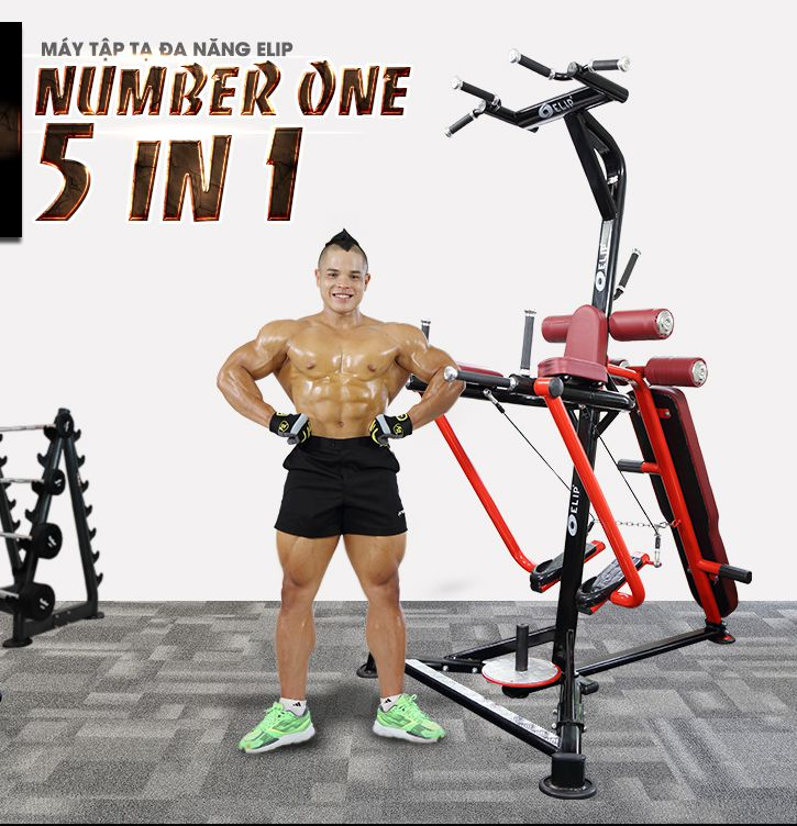 Máy Tập Tạ Đa Năng Elip Number One 5 In 1 - Elipsport.vn