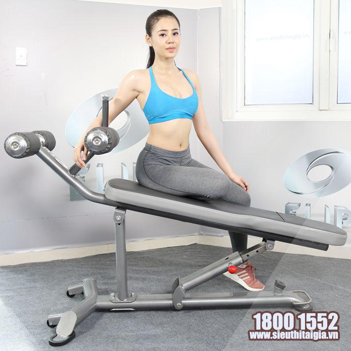 Ghế tập bụng điều chỉnh đa độ dốc Elip AC013 - ảnh 1
