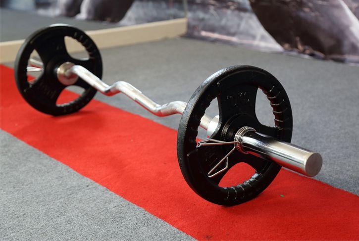 Đòn tạ Gym ELIP zic zắc từ 1.2 - 2.2m