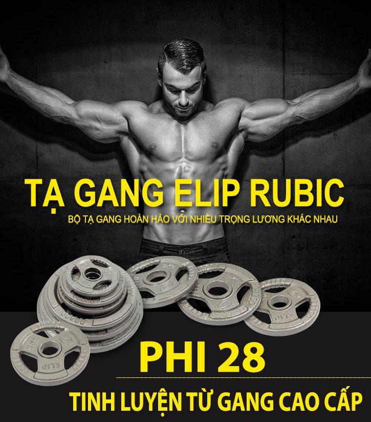 Tạ Gang Elip Rubic Phi 28-5Kg