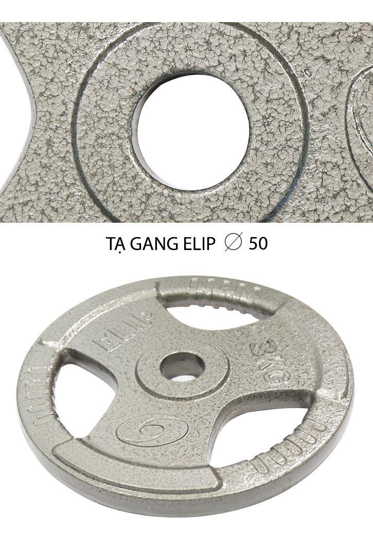 Tạ Gang Elip Rubic Phi 50-3Kg - ảnh 1