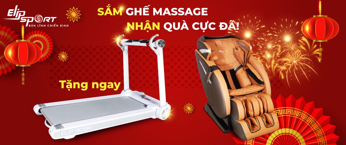 Elipsport tặng 1000 máy chạy bộ khi mua ghế massage