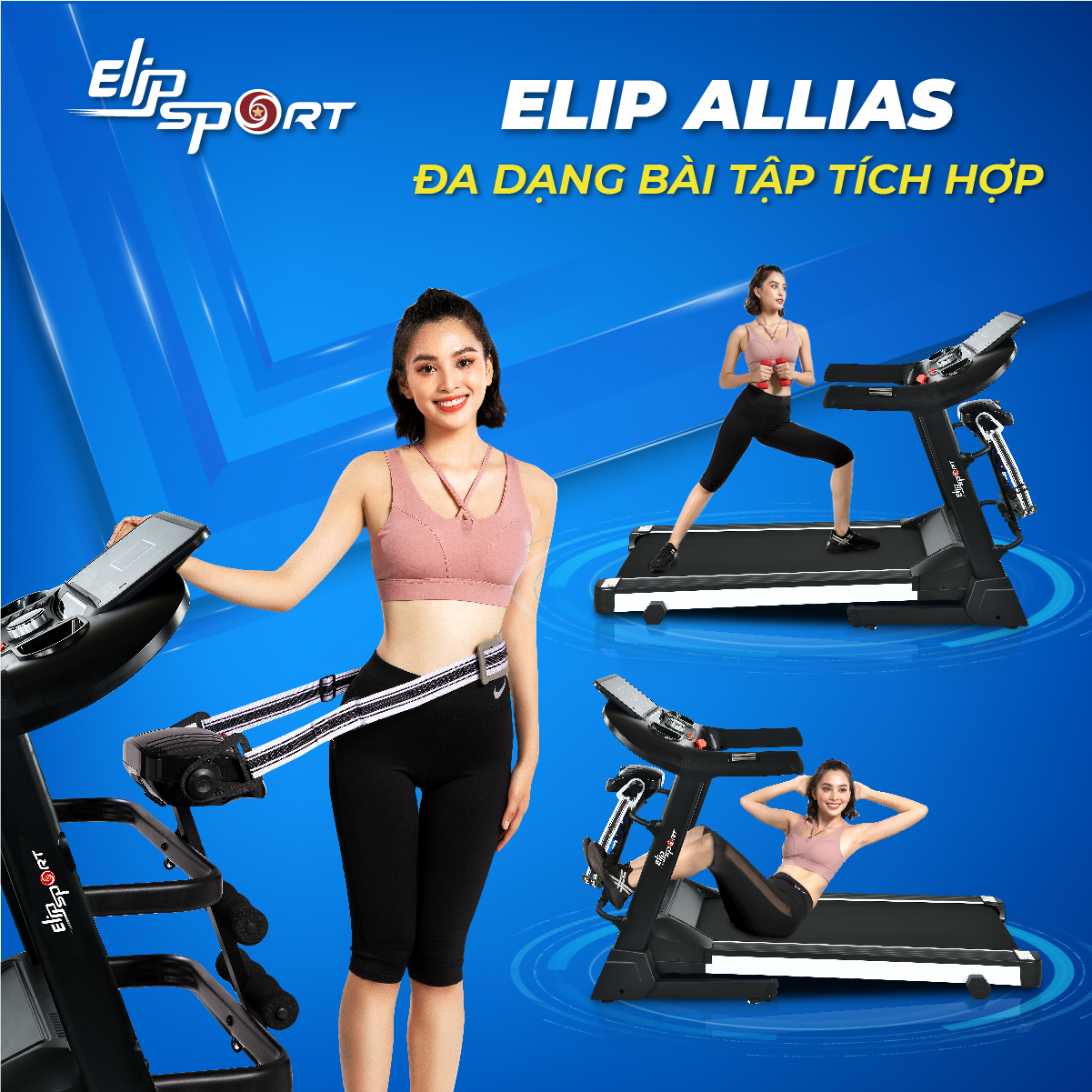 Máy chạy bộ ELIP Allias