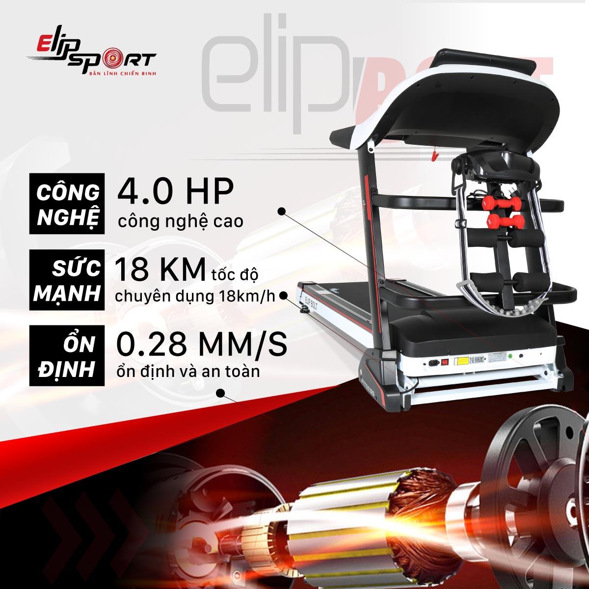 Máy chạy độ điện đa năng ELIP Bolt