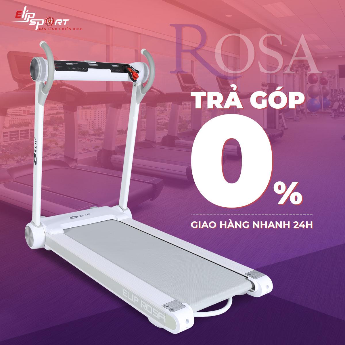 Máy chạy bộ điện đơn năng ELIP Rosa