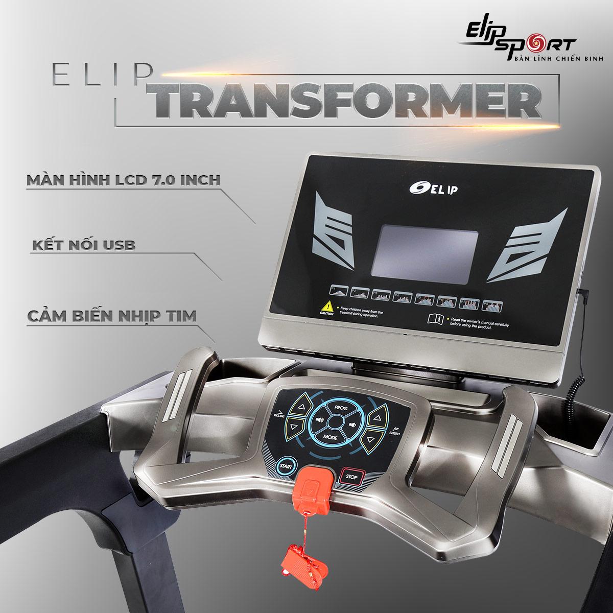 Máy chạy bộ điện đa năng ELIP Transformer