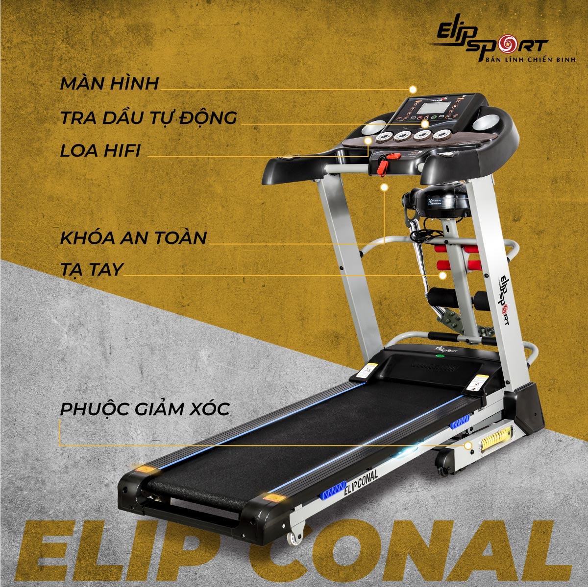 Máy chạy bộ ELIP Conal đa năng