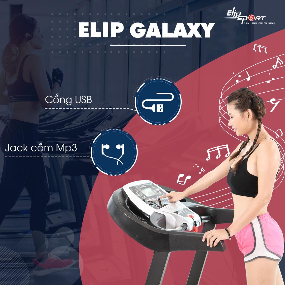 Máy chạy bộ điện đơn năng ELIP Galaxy