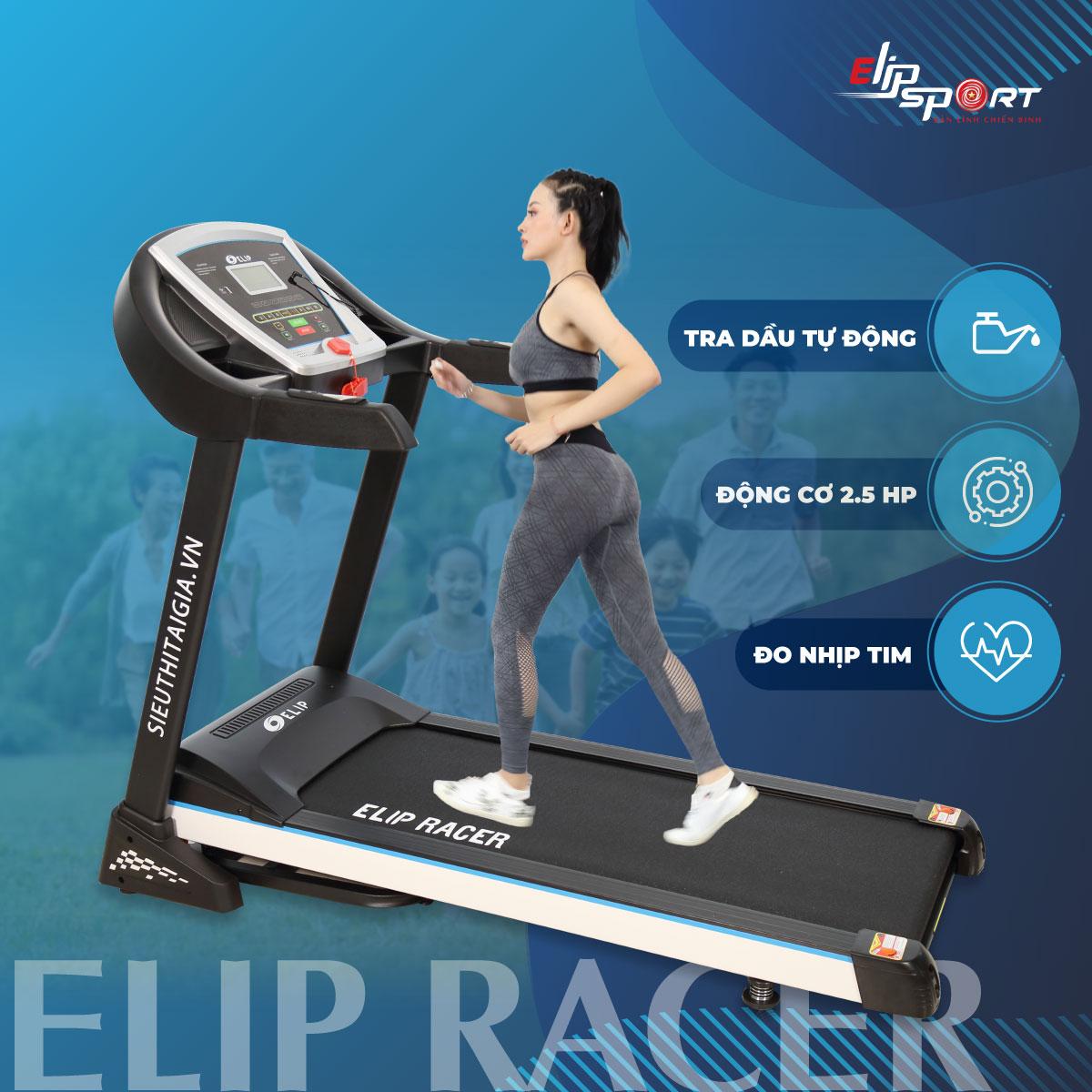Máy chạy bộ điện đơn năng ELIP Racer