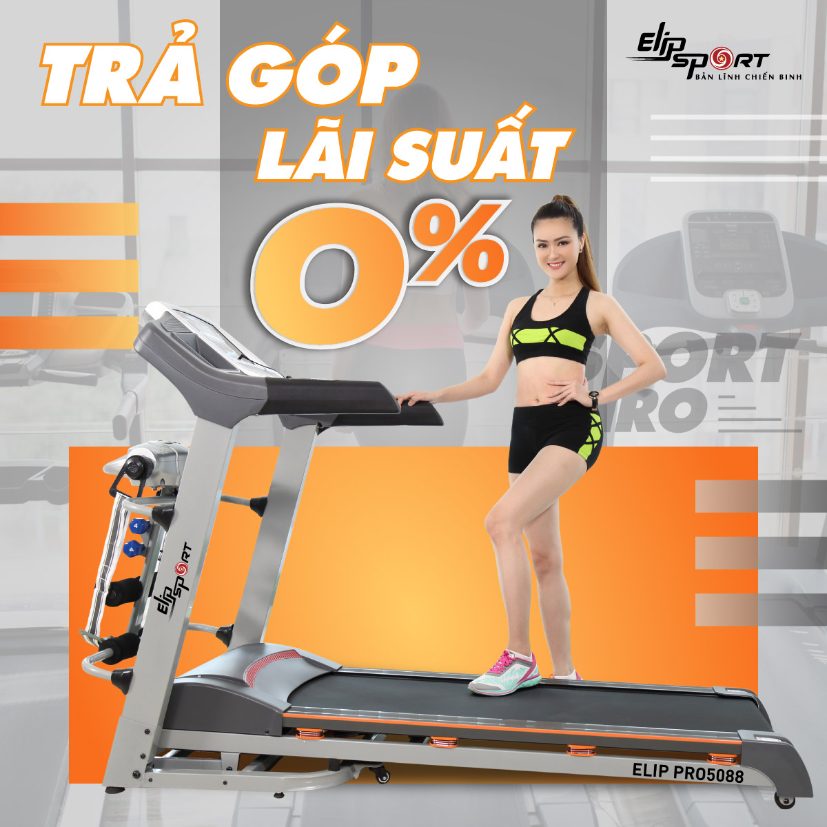 Máy chạy bộ ELIP Sport Pro