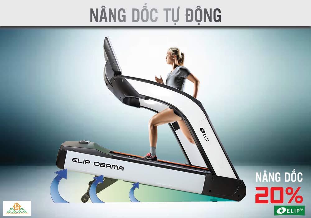 Máy chạy bộ Phòng Gym Elip OBAMA nâng dốc tự động