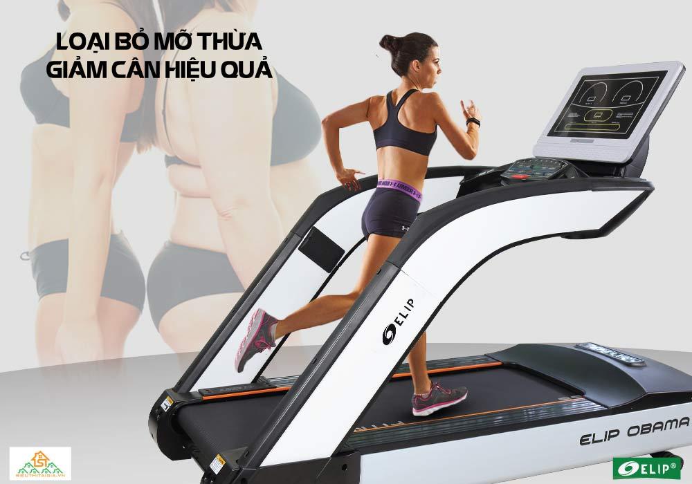 Máy chạy bộ Phòng Gym Elip OBAMA giảm cân hiệu quả