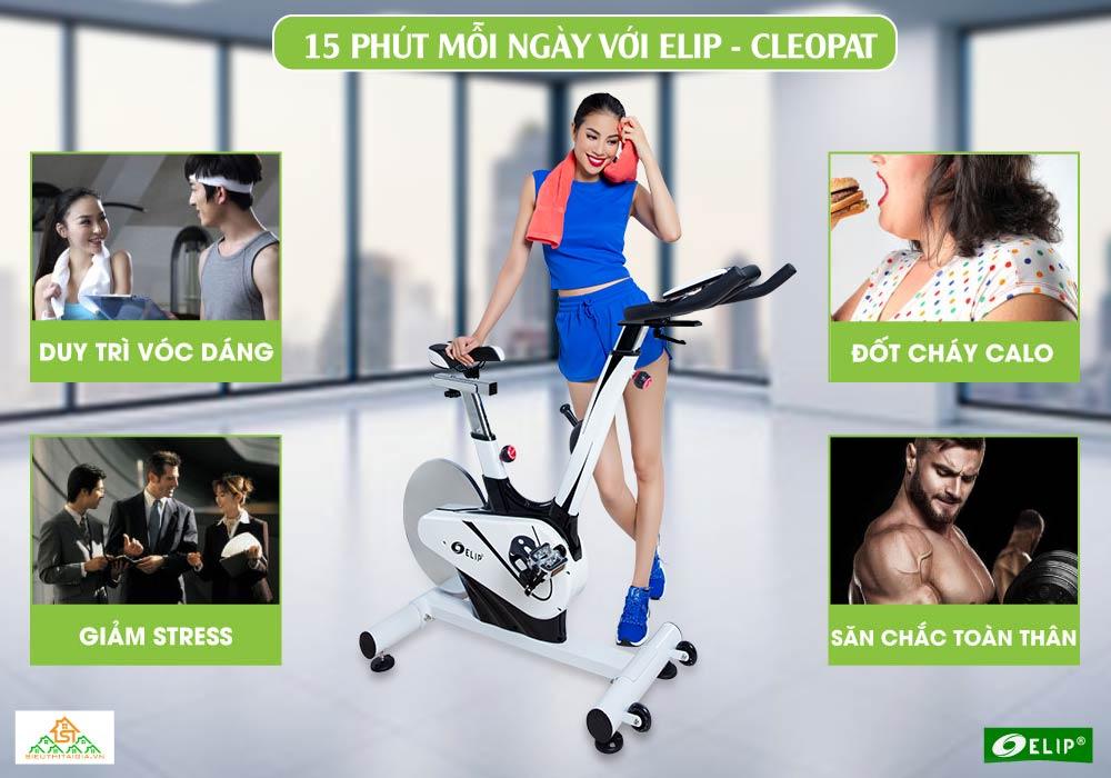 tác dụng Xe đạp tập Elip Cleopat