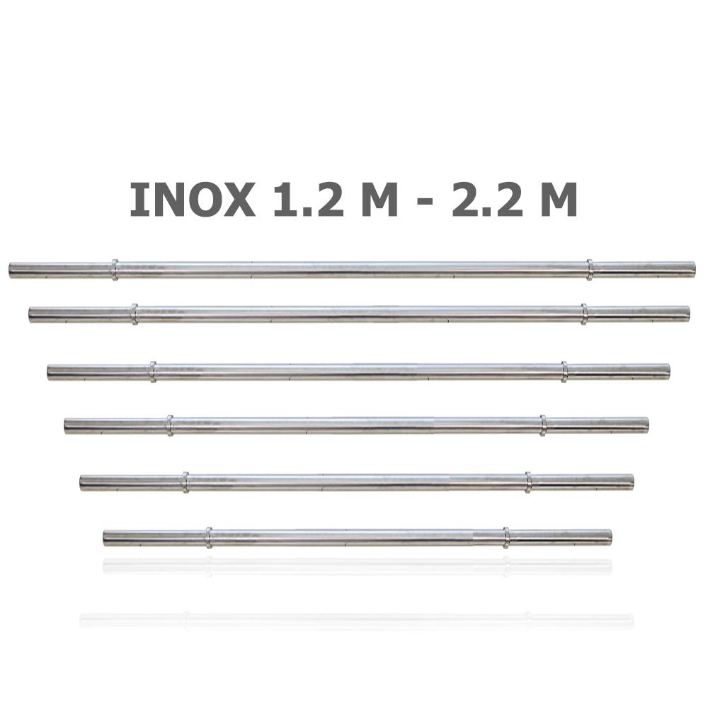 Ảnh sản phẩm Đòn tạ inox Elip phi 27 dài 1.2m tới 2.2m