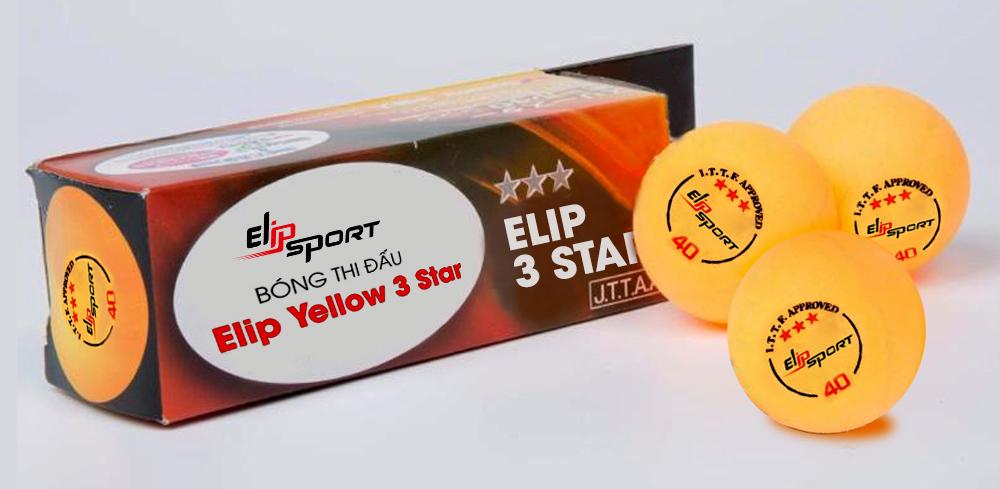 thiết kế bóng thi đấu Elip Yellow 3 Star